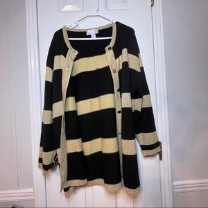 Maggie Barnes Gold and Black Shimmer Cardigan